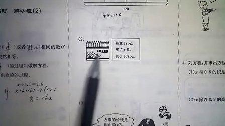 郭老师讲数学  六年级数学上册 第4讲 解方程2