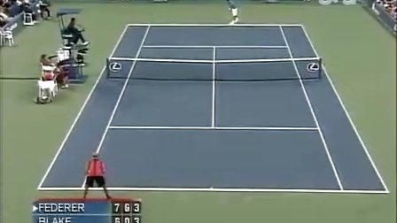 2006 美网qf 费德勒vs布莱克 set3