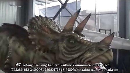 仿真恐龙制作公司--骑乘三角龙和双冠龙