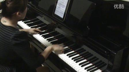 《北京欢迎你》钢琴视奏版_tan8.com