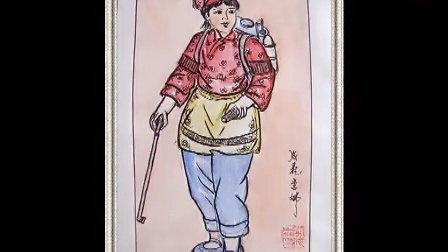 著名书画家李成森与女儿李娜早期淡素彩人体画百幅作品