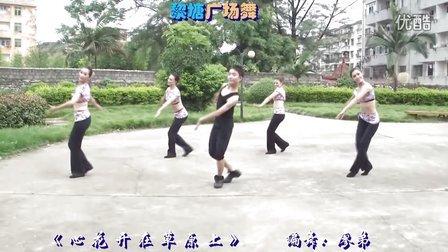 黎塘广场舞(泽美健身队)-《  心 花 开 在 草 原 上  》(正面)
