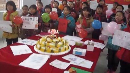 安徽界首市《言承旭春蕾小學》學生給言承旭慶祝生日!