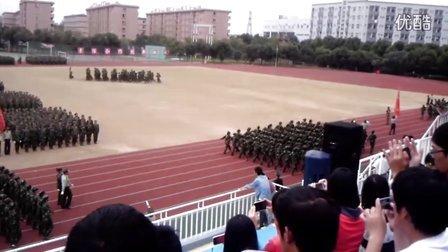 宁波城市职业技术学院  阅兵 预练