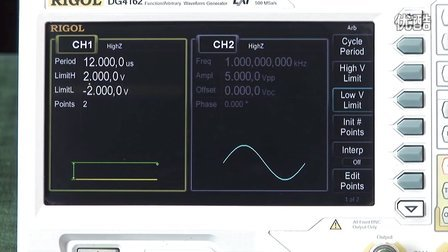 使用RIGOL DG4000块编辑功能生成任意波