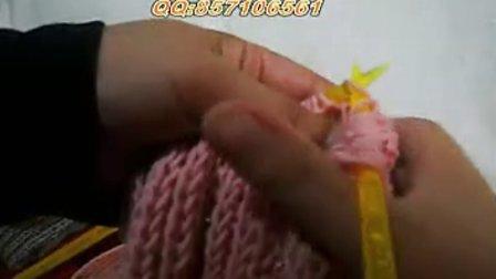 围巾织法,爱织线,双麦穗,织法