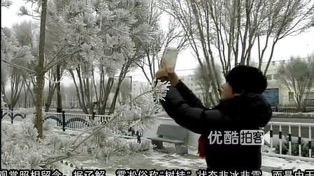 【拍客】实拍新疆和静县迎来今冬首场雾凇奇观 美轮美奂
