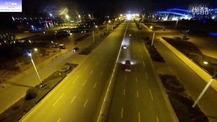 枣庄 新城 夜景航拍