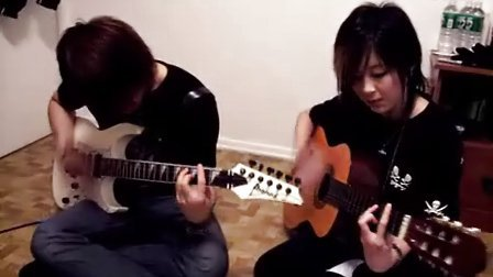 YUI cover Rolling star guitar