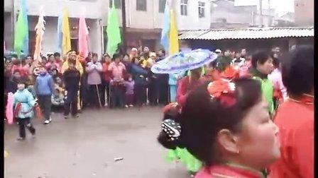 雁塔区缪家寨村2009年春节锣鼓秧歌表演