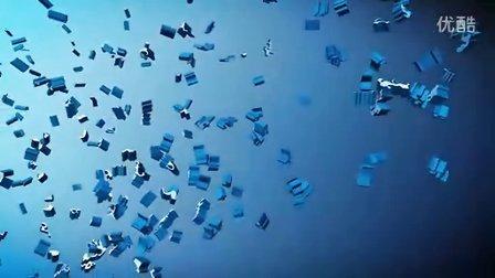 三维粒子汇聚形成文字的片头效果