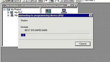 STEP7视频教程之故障排除第6集上载整个PLC.flv