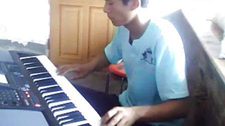 荷塘月色 电子琴演奏,乐器,自娱自乐,夹河庙,电子琴,演奏,dj 大连 普兰