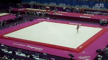 眭禄2012年伦敦奥运会体操测试赛资格赛fx