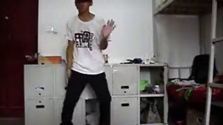 寝室练习poppin阿才街舞