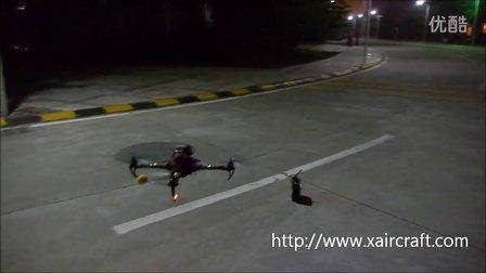 XAircraft AHRS-S V2 GPS夜晚在建筑群中定高定点