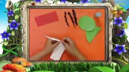 幼儿手工制作《趣味撕纸之西瓜》手工视频