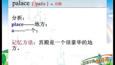 七年级英语单词动画巧记palace电18607127010