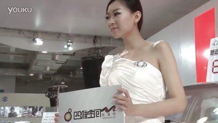 2011齐鲁秋季车展全球鹰汽车展区模特张旭