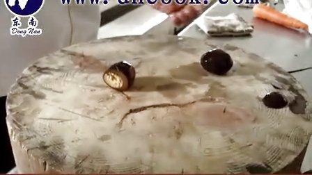 深圳学厨艺 烹调培训 粤菜厨师培训--东南厨师培训学校之花篮(冷盘)