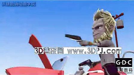 3D电影3D搞笑动画短片《猴扑团》一个肉包招惹来的五指山