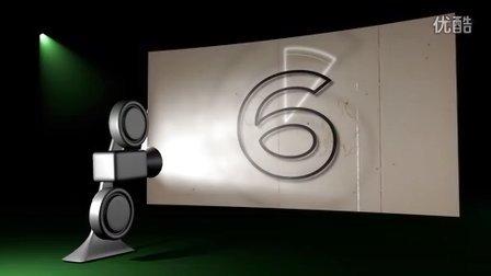 模拟老式电影放映机的数字倒计时1080P高清视频素材