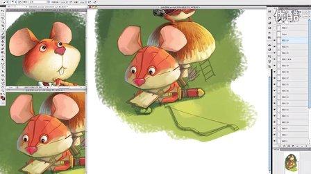 小新儿童插画教程-仓鼠冒险