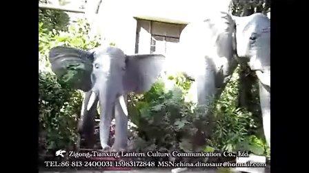 仿真动物制作 大象