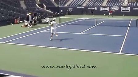 2011美国网球公开赛 德约科维奇赛前训练