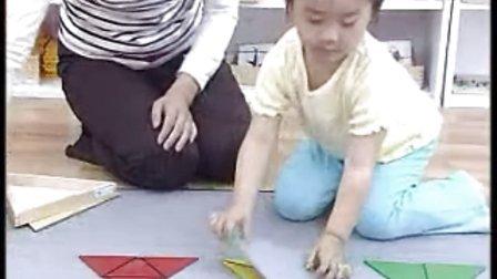 蒙氏教具——构成三角形的操作