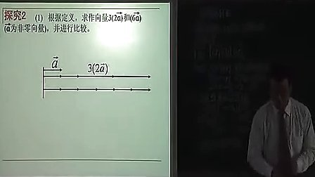 向量数乘运算及期几何意义教学视频高一数学课堂教学及说课视频 1