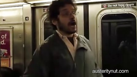 纽约地铁大学讲师与学生们对富人的讽刺演讲