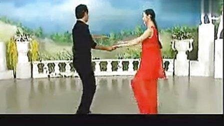 交谊舞-三步踩教学视频-舞厅伦巴双手套环1