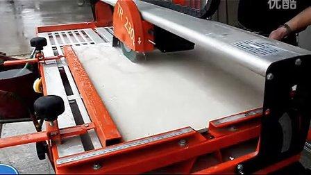 诺顿电动石材瓷砖无尘切割机 折叠支架 倒角45度 TR230GS切割视频