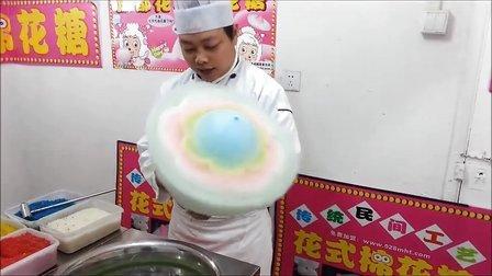 成都花式棉花糖机器花式棉花糖做法操作教程!