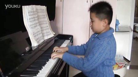 钢琴练习《扎红头绳》