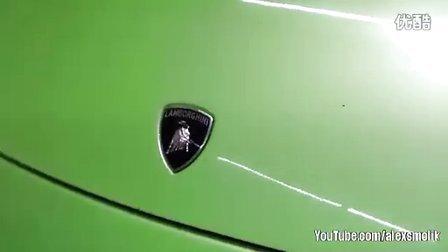 绿色Lamborghini Murcielago