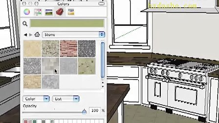 Google SketchUp Toolbar Series Paint Bucket