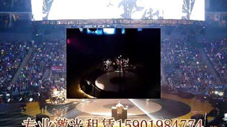 滚石30年上海演唱会 激光秀