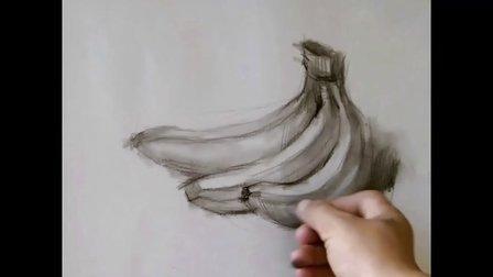 素描自学入门基础教程单体篇香蕉素描静物教学视频