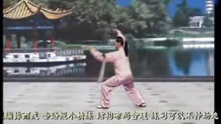 带字幕36式养生太极拂尘 全套演练 吴阿敏