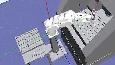 EPSON工业机器人模拟仿真视频