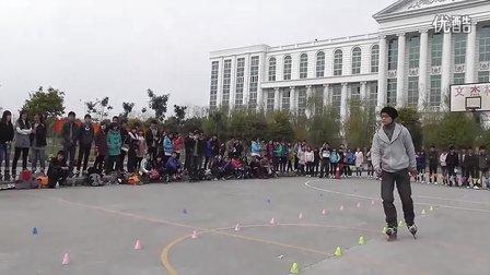 2011荆州职业技术学院轮滑活动之刹车