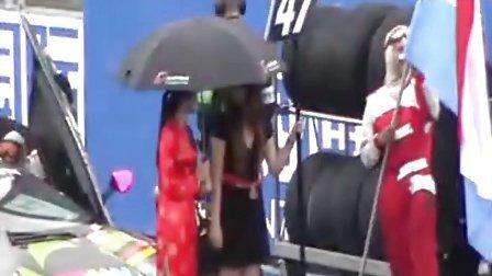 下午决赛开赛前的兰博基尼赛车