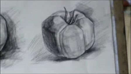 太原华思美术培训学校教学视频-素描西红柿