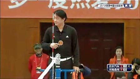 2013年12月8日中国女排联赛第3轮 北京VS河南 第三局