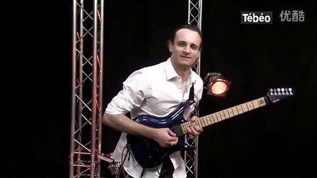 """在法国电台Inophis弹""""Paint it black""""黑色""""(在4:06开始) 法丽达吉他 Farida FIS-60"""