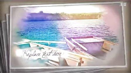 AE特效 ae软件特效清新油画风格的图片展示模板