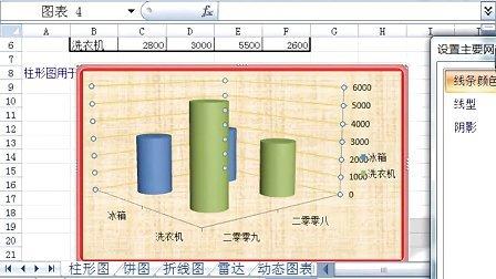呼和浩特电脑培训班excel教程19_图表1_柱
