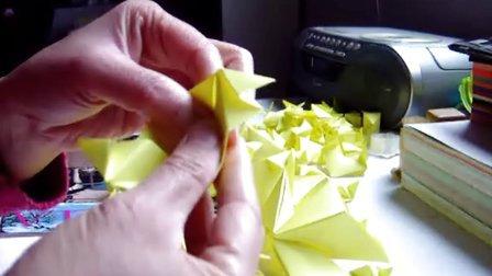 纸艺-立体五角星制作过程